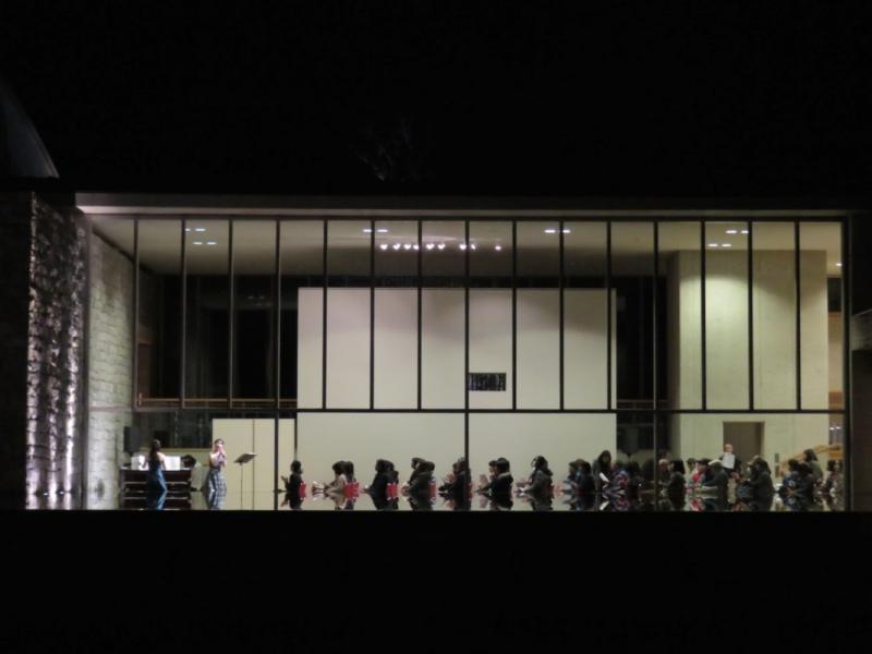 Moon viewing at the Okuda Genso-Sayume Art Museum Concert