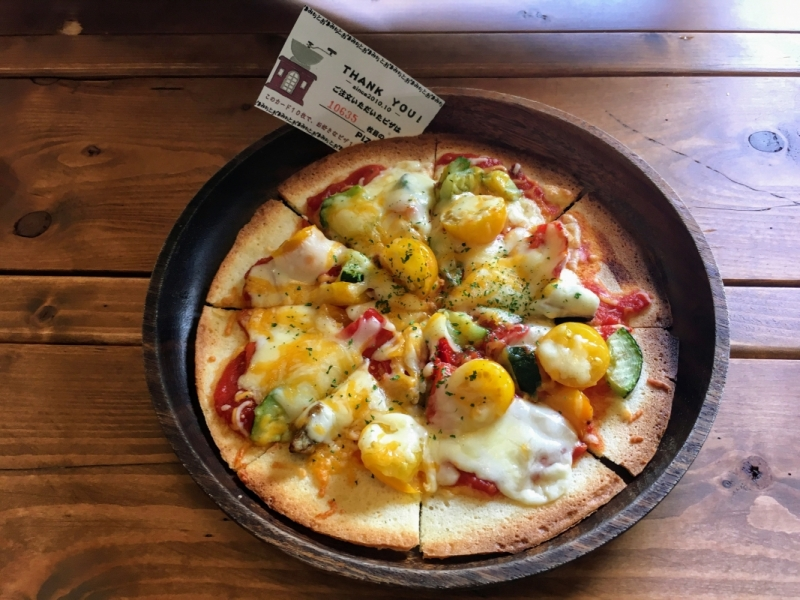 Torimichi vegetable pizza