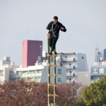 "Hiroshima ""Dezome-shiki"" New Year Firefighter Display"