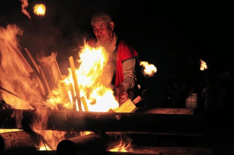 Innoshima Suigun Fire Festival fire