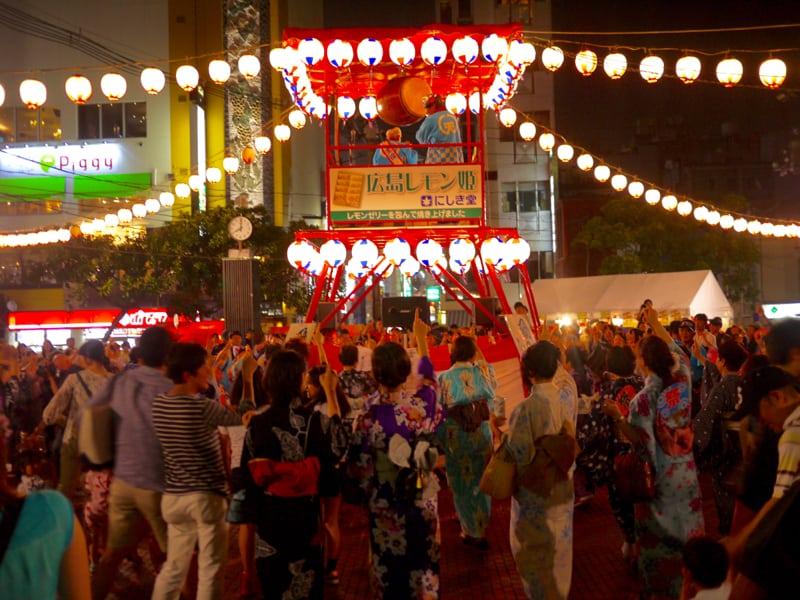 Dance dance dance Yukata de bon dance shintenchi at tokasan
